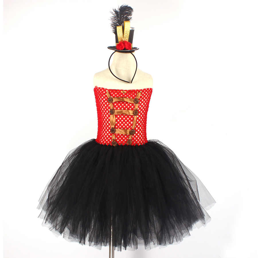 Girls Ringmaster Costume Circus Nutcracker Fancy Tutu Dress Kids Tulle Birthday Party Dress Girl Halloween Dress Up Clothes (9)