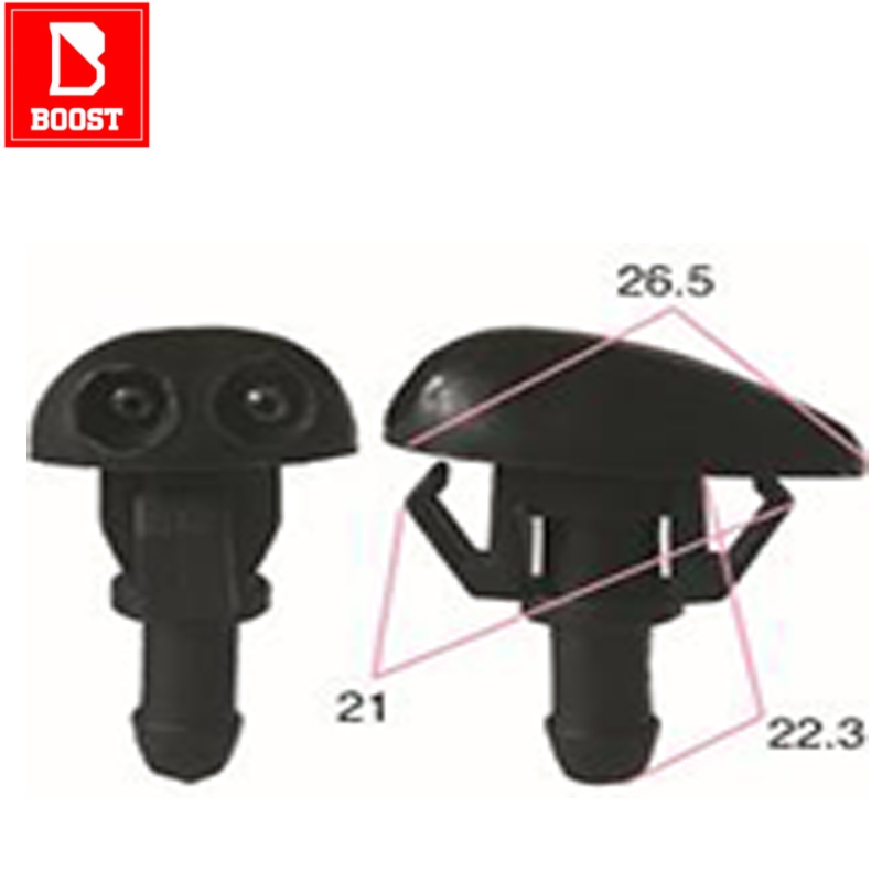 2PCS Auto Car Windshield Washer Wiper Water Spray Nozzle For Nissan Vehicle Car Accessories