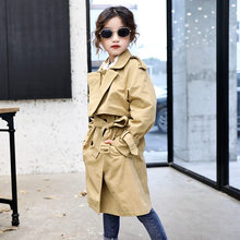 Baby Girls Trench Coats Double Breasted Jacket For Clothing Solid Tops Kids Windbreaker 2019 Spring Autumn Teens Outerwear