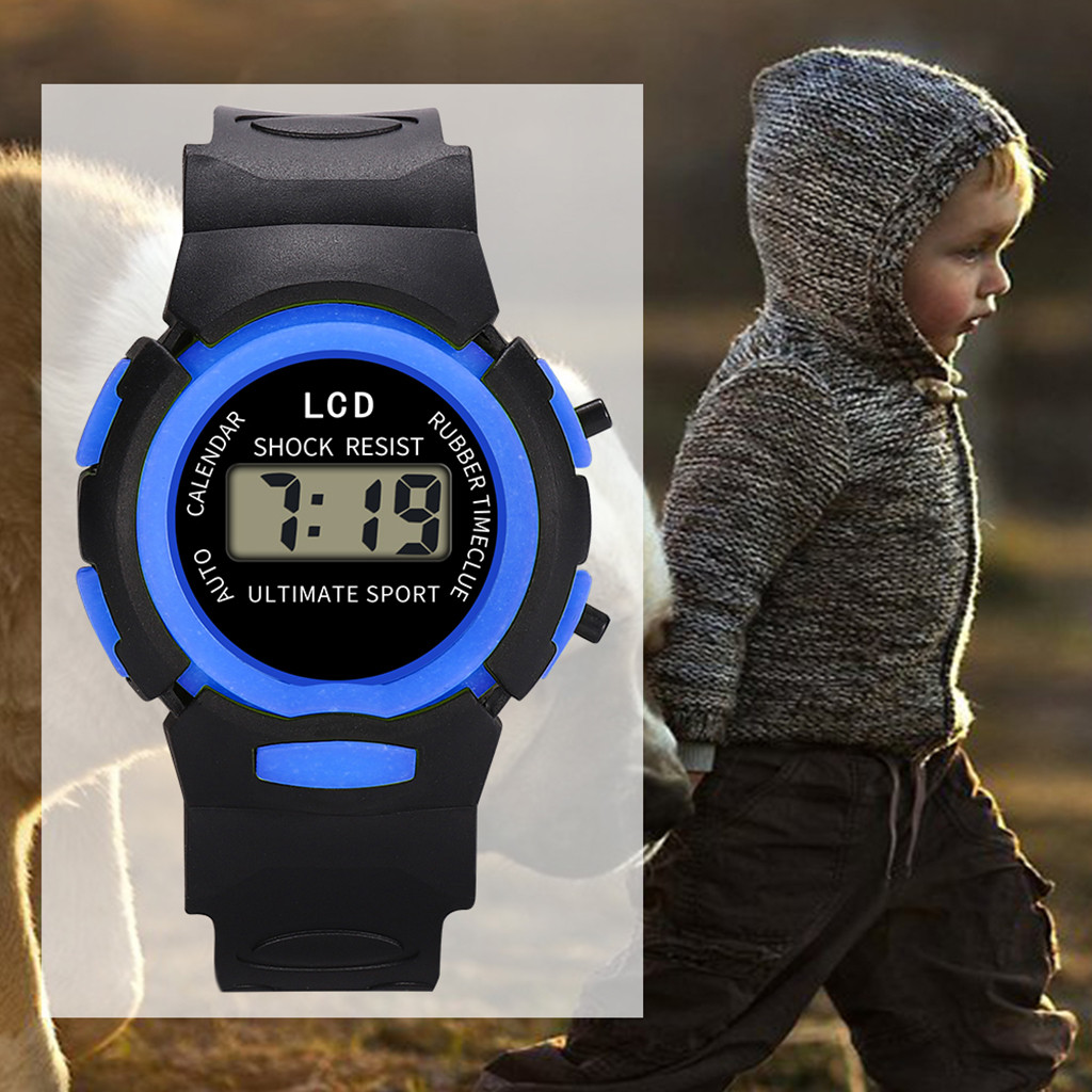 Hot Sale Waterproof Children Watch Boys Girls Led Digital Sports Watches Silicone Watch Kids Casual Watch Gift #W