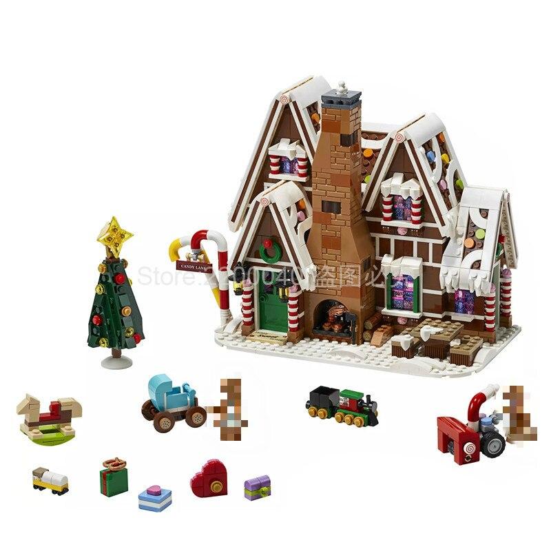 IN STOCK 2020 New 10267 1477pcs Creator Expert Movie Series Gingerbread House Building Blocks Bricks Kids Toys Christmas Gift