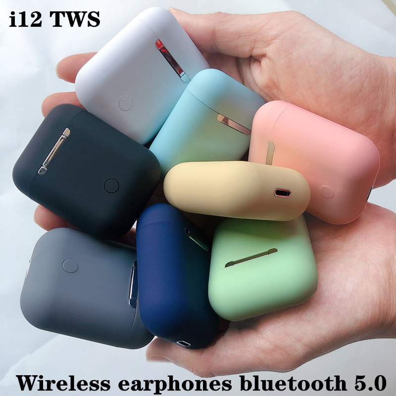 i12 <font><b>TWS</b></font> Bluetooth earphone Smart Touch music Earpieces sports waterproof earbuds For xiaomi huawei iphone HD wireless headphones image