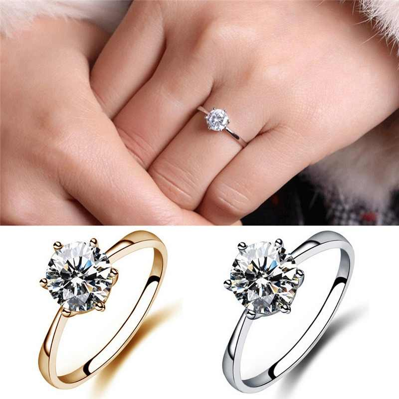 2019 Bohemian Style Women's Ring Circle Finger Hoop Charm Classic Zircon Jewelry Gifts For Women Bride Wedding Anillos Mujer