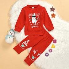 Рождественская детская одежда новинка 2020 футболка с длинными
