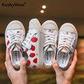 Детская обувь KushyShoo  с принтом фруктов  клубники  ананаса  модная повседневная обувь для девочек  2019
