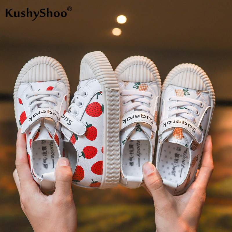 KushyShoo Children's Shoes 2019 Girl Fruit Printed Shoes Strawberry Pineapple Fashion Children Casual Shoes Baby Girl Sneakers
