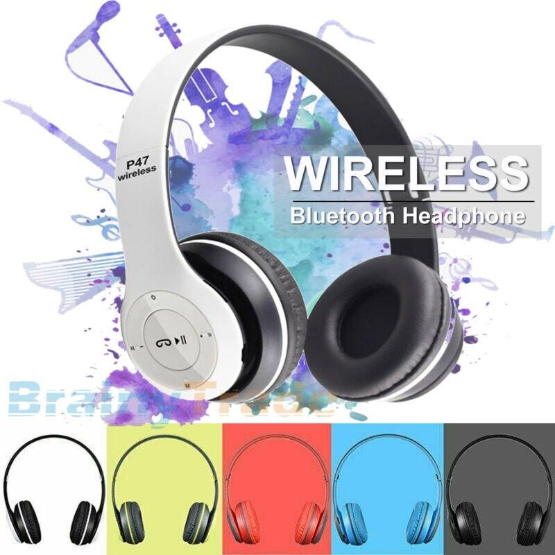 Foldable Wireless Bluetooth Over-Ear Stereo Headphones Sport Headset Microphones Headphones