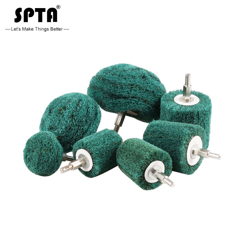 SPTA Polishing Buffing Pad Polisher Pad Mop Wheel Drill Kit For Manifold,Aluminum,Stainless Steel,Chrome,Metal Set Pack Of 5Pcs