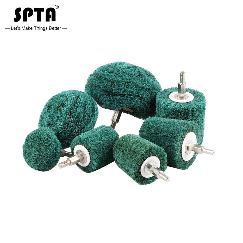 SPTA Polishing Buffing Pad Polisher Pad Mop Wheel Drill Kit For Manifold,Aluminum,Stainless Steel,Chrome,Metal Set Pack Of 5Pcs