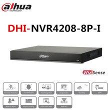 Dahua 8 CH NVR 1U 8 Ports PoE enregistreur vidéo réseau AI 2 HDD intelligent H.265 + jusqu'à 12 images de visage NVR4208-8P-I pour caméras IP