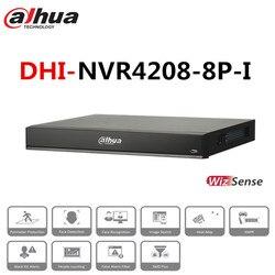 Dahua 8 ch nvr 1u 8 portas poe ai rede gravador de vídeo 2 hdd h.265 inteligente + até 12 imagens de rosto NVR4208-8P-I para câmeras ip