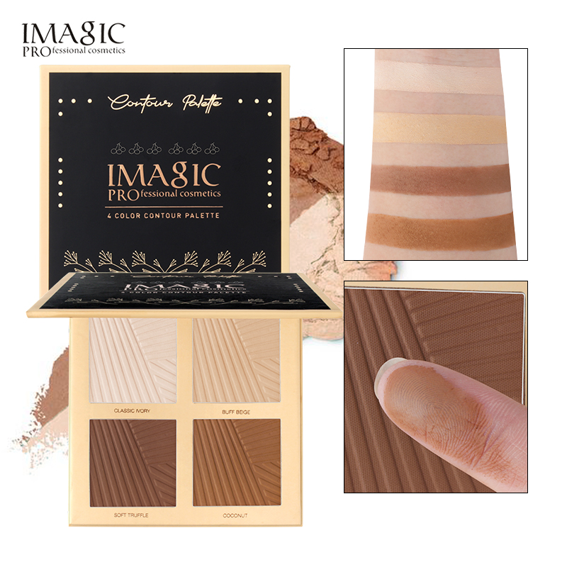 IMAGIC natural powder foundation oil control bright white concealer whitening makeup powder 4 colors image