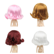 Blyth poupée perruque de poupée glacée seulement rbl cuir chevelu et dôme, cheveux courts ondulés jouet cuir chevelu pour bricolage poupée personnalisée