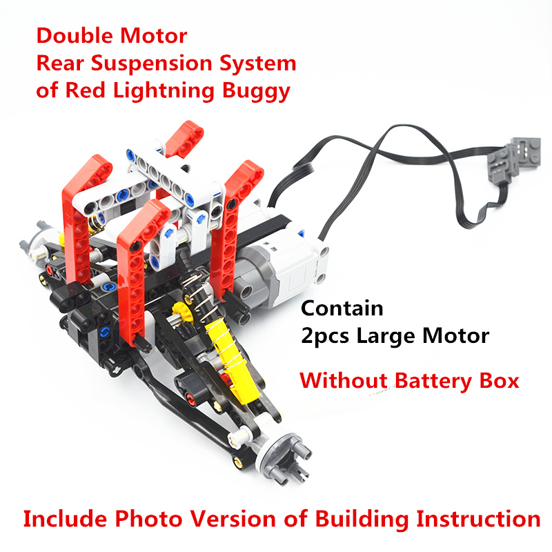 MOC Technic Parts Formula Off Road Vehicle Double Motor Independent Rear Suspension System Compatible With Lego For Boys Toy
