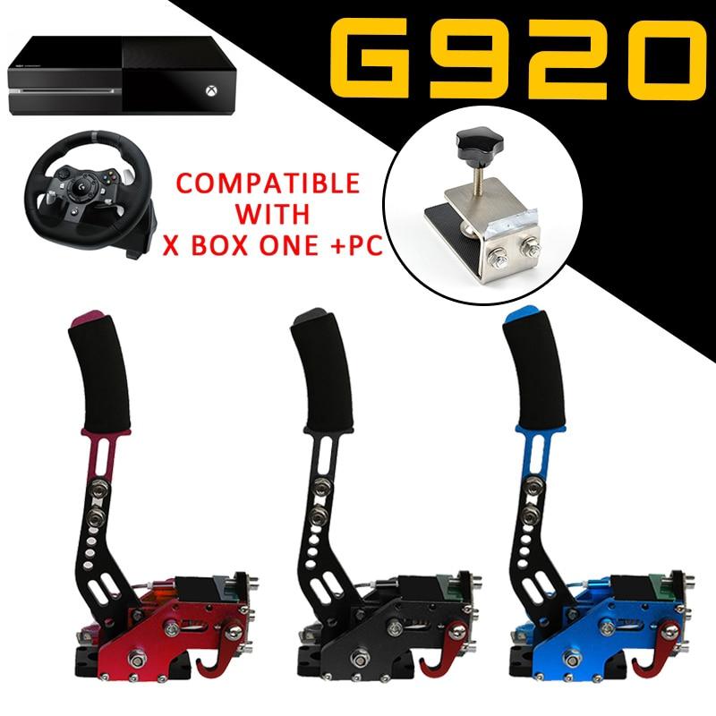 Xbox one   PC USB Hand Brake Clamp For Racing Games G920 Logitech Brake System Handbrake Games Parts Black Blue Red