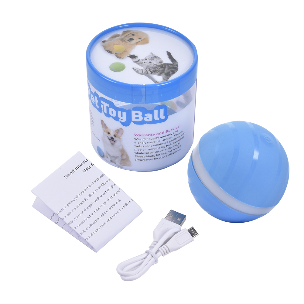 Electric Rolling Smart Pet Toy and USB Rechargeable Luminous Ball for Dogs/Cats 5