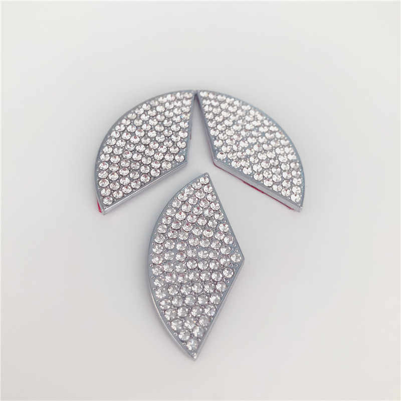 Charrost Bling Bling Car Steering Wheel Logo Badge Emblem Cover Diamond Decoration Unique Gift for Women for Mercedes-45mm