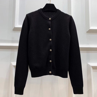 Knitted Cardigan Women Wool Female Cardigans Short Black Cardigan Women Tops Spring