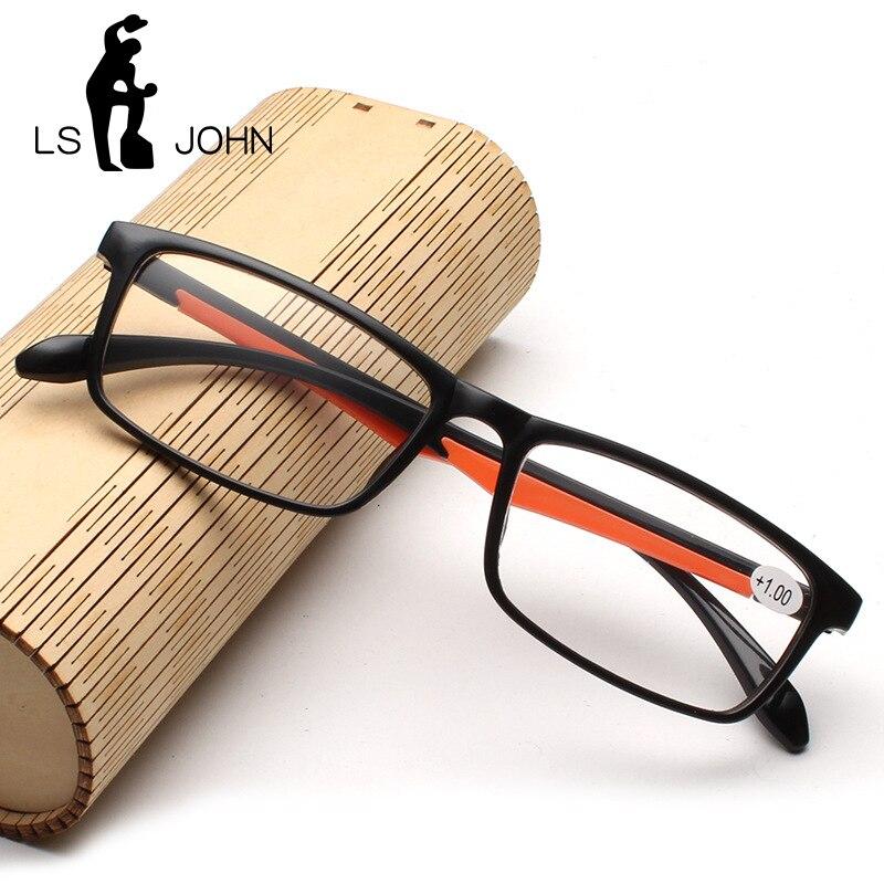 LS JOHN Ultra-Light TR90 Reading Glasses Men Women Hot Sales Clear Lens Presbyopia Eyewear+1.0 To +4.0 Anti-Reflective Reader
