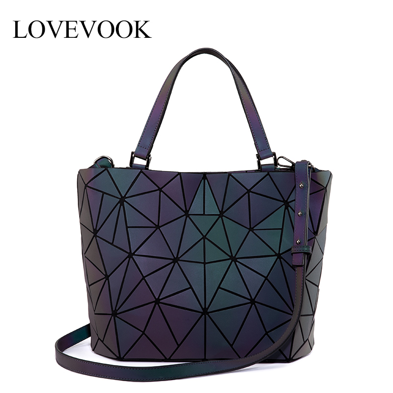 Lovevook Women Shoulder Bags Luxury Designer Folding Tote Bag Female High Quality Crossbody Bag For Ladies Luminous Color