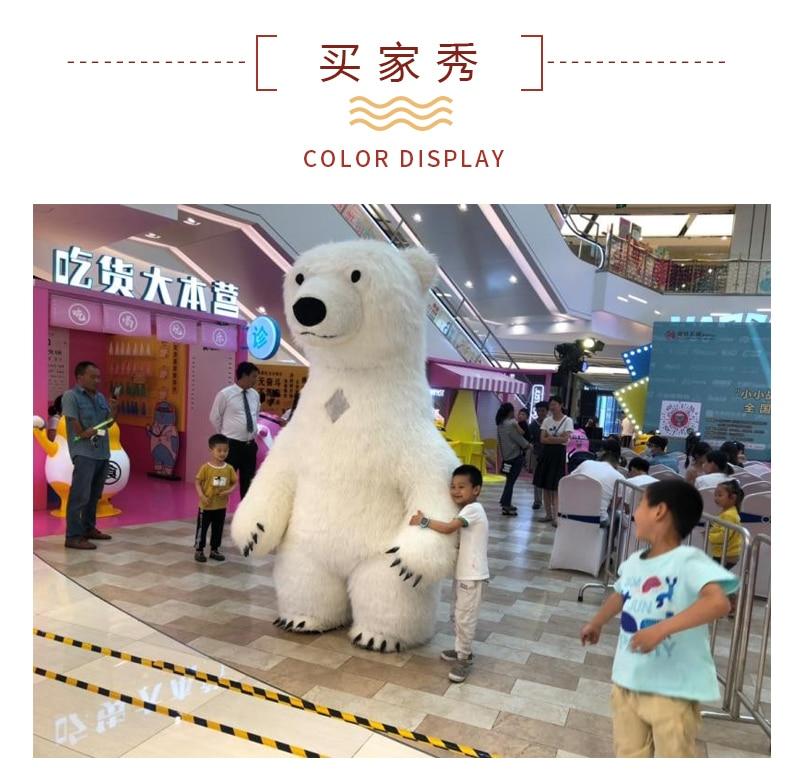 Novo estilo inflável traje da mascote panda
