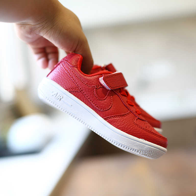 Çocuklar sneakers erkek ayakkabı kızlar çocuk deri ayakkabı beyaz siyah kırmızı okul ayakkabısı rahat ayakkabı esnek taban moda lastik