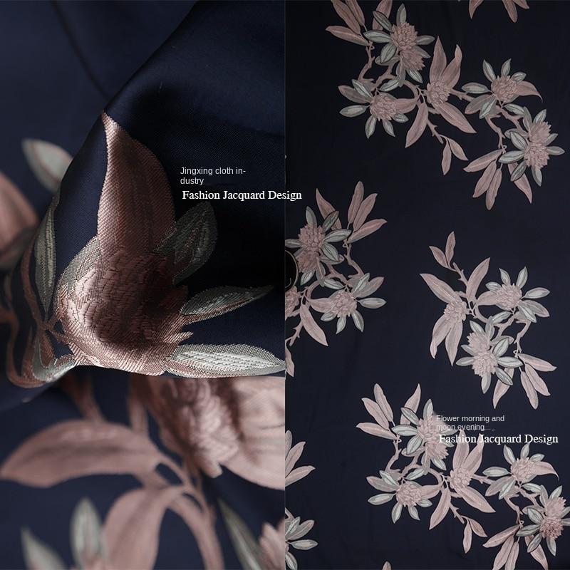 soft fabric Big wave point style silk velvet fabric cheongsam fabric, jacquard velvet flower fabric translucent fabric
