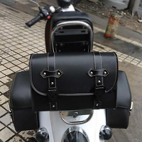 PU Leather Large Capacity Parts Side Bag Travel Racing Touring Motorcycle Saddlebag Accessories Seat Pouch Motobike Luggage