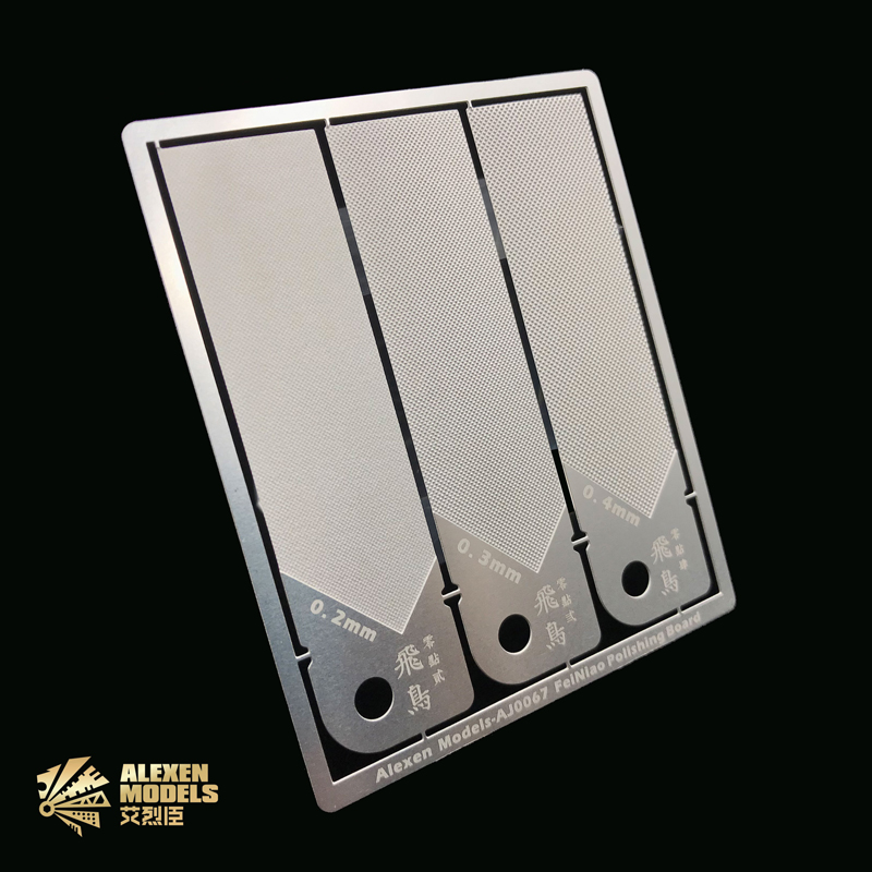 Gundam Military Models Stainless-steel Washable Sanding Board 3 In 1 Plastic Runner Polish Plate Hobby Grinding Tools