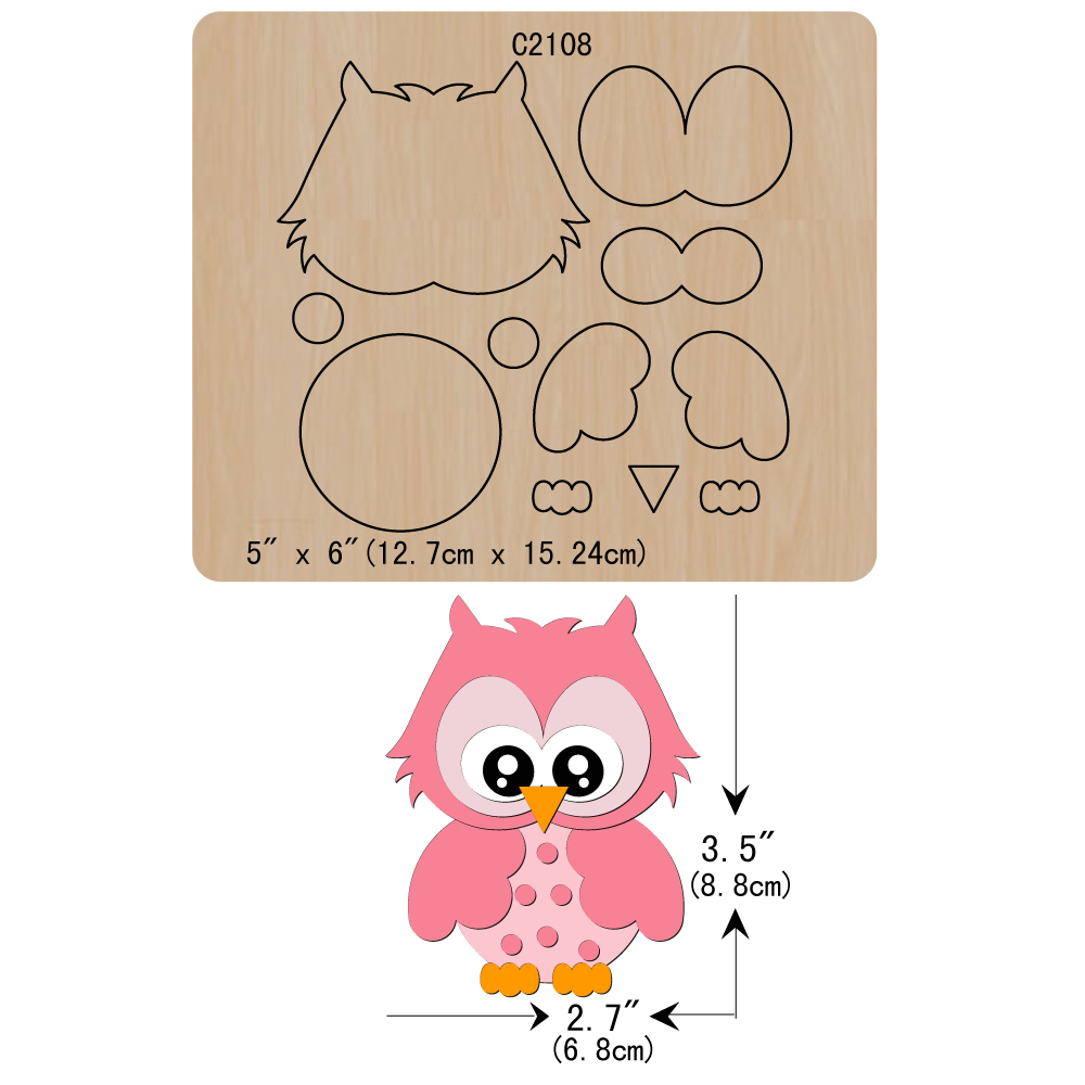 New OWL Wooden Die Scrapbooking C2108 Cutting Dies