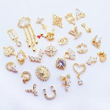 Стразы для ногтей новые продукты Taobao горячие продажи роспись ногтей сплав для маникюра стикер большой бренд настоящее золото поддерживает цвет гальванический