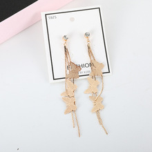 Promotional New Silver Color Earrings High Quality Fashion Elegant Women Classic Jewelry  Tassle