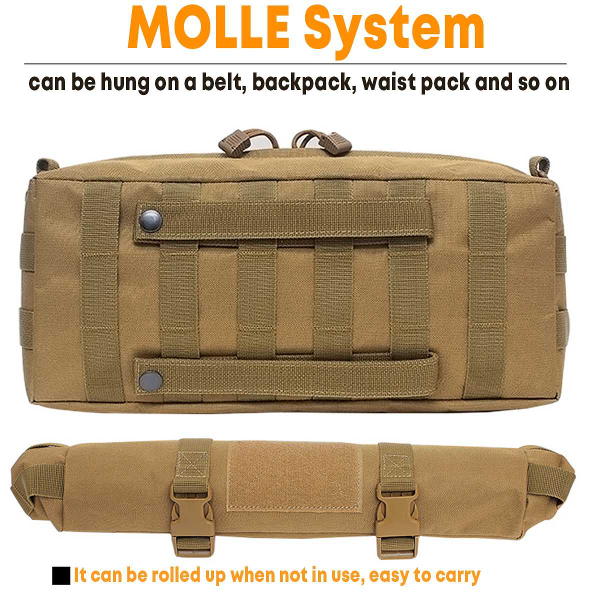 Tactical Bag Outdoor Tactical MOLLE Military Waist Bag Camping Hiking Travel Sport Pouch Running With Shoulder Strap Phone Walle