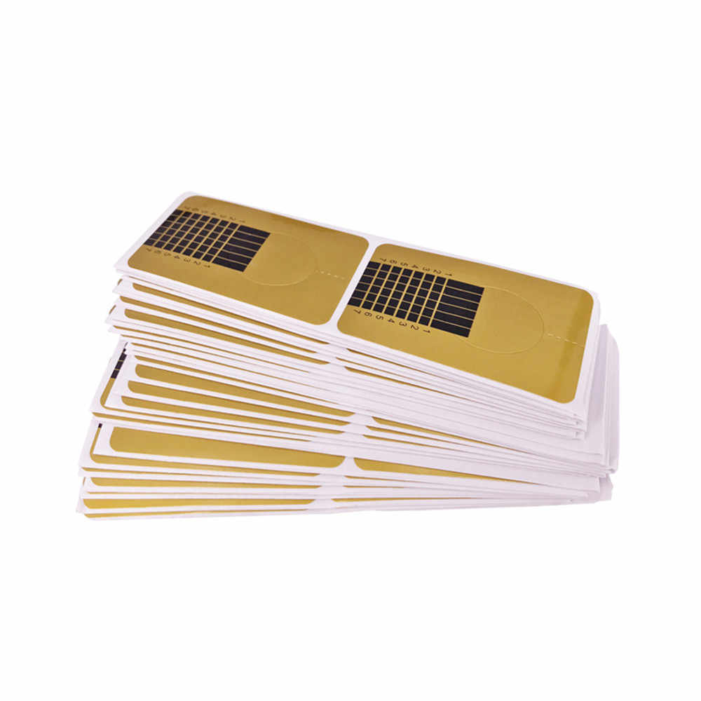 100pcs Professional French เล็บเคล็ดลับเล็บอะคริลิคเจลเล็บสติกเกอร์ขยายรูปแบบสำหรับเล็บภาษาโปลิชคำท่องเที่ยว