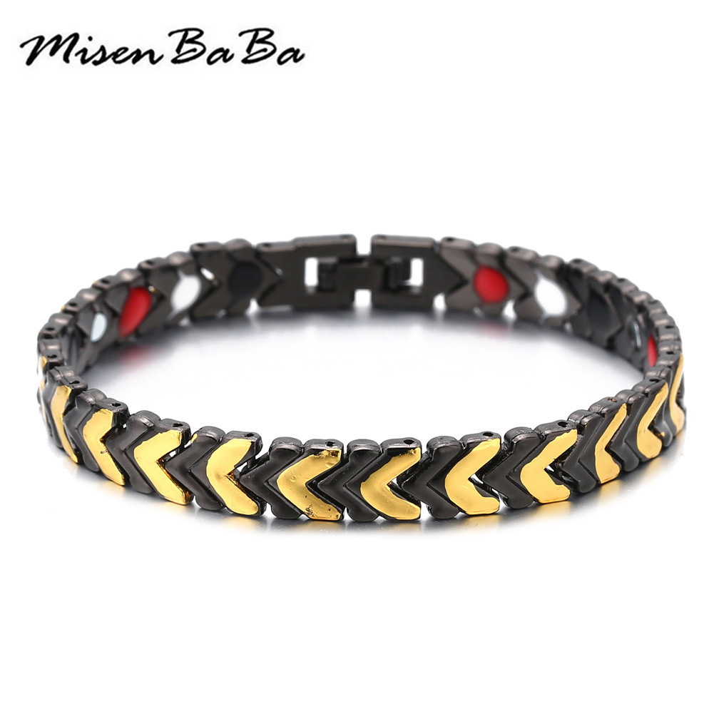 Fashion Healing Magnet Bracelet For Women Men Copper Health Care Magnetic Germanium Energy Power Bracelet Jewelry