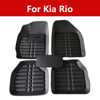 Car Floor Mat For Car Accessories Waterproof Carpet Rugs Car Carpet For Kia Rio All Weather Protection image