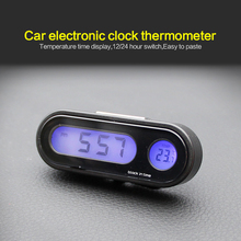 Mini Portable 2-in-1 Auto Car Electronic Clock Luminous Ther