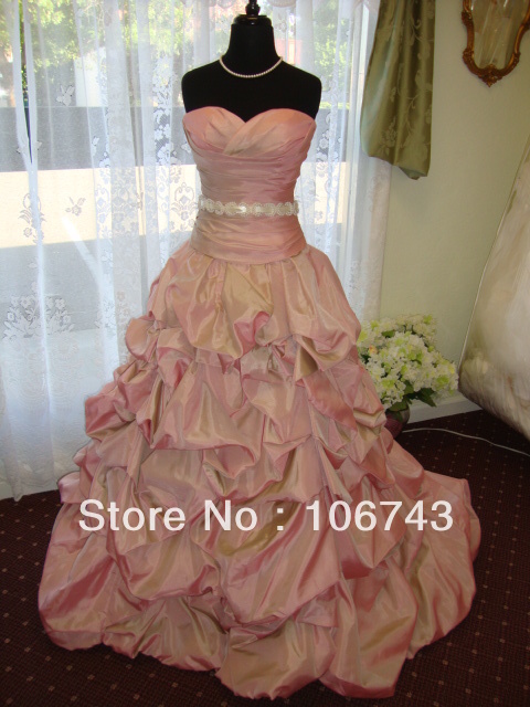 Free Shipping Wedding Dress Wrap Ball Gown Vestidos De Novia Fashion 2016 Sash Belt Nwt With Removable Bridal Gowns Custom Size