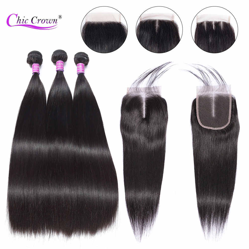 Straight Hair Bundles With Closure Remy Human Hair Weave Bundles With Lace Closure Malaysian Straight Hair Bundles With Closure