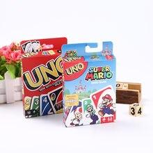 Super Mary-tarjeta de personaje del juego de Mario UNO, adecuado para juegos familiares, amigos, regalo de cumpleaños para niños