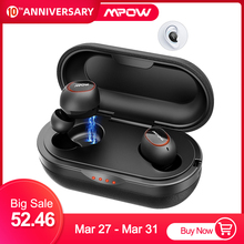 Mpow T5/M5 TWS Earphones Bluetooth 5.0 Wireless Earbuds IPX7 Waterproof Headset 36H Play Time Support Aptx TWS for Xiaomi iphone mpow tws t6 black mpbh333ab