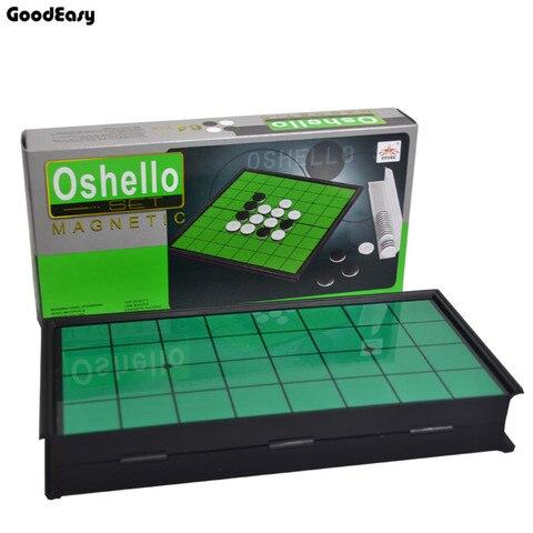 Qualidade de Jogo de Tabuleiro Jogo de Xadrez de Plástico Alta Reversi Magnética Oshello Xadrez 64 Pçs – Set