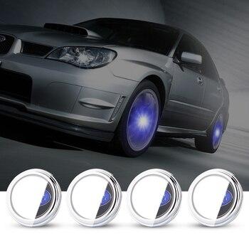 For SUBARU 58Mmm 4X Hub Light Car Wheel Caps Light Center Cover Lighting Cap Floating Illumination LED bulb auto car styling
