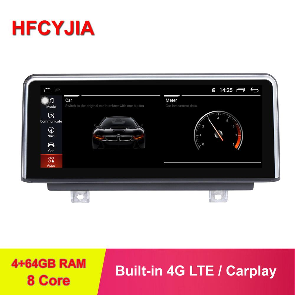 HFCYJIA IPS 8 Core 4+64GB Android 9.0 System Car Multimedia Stereo For BMW F22 F45 F46 F87 2018 GPS Navi WIFI 4G BT Carplay