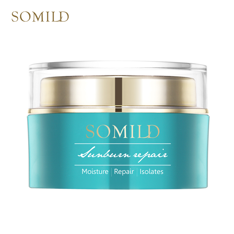 SOMILD Green Algae Sunburn Repair Gel Sunscreen Face Cream Moisturizer After Sun Repair Whitening Cream Natural Ingredients 120g