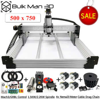5075 WorkBee CNC Router Machine Full Kit USB Port 4 Axis Auto CNC Engraver Mill with limit switch for wood metal stone carving - DISCOUNT ITEM  4 OFF Tools