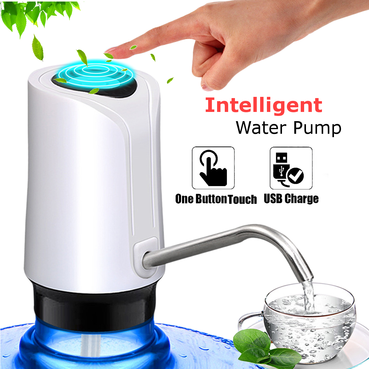 USB Wireless Smart Electric Water Pump Dispenser Bottle Portable Beverage Suction Automatic Suction Pump For Home Travel
