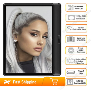 Global 5G wifi tablet 10 inch Octa Core Android 9.0 3GB RAM 32GB 1920x1200 HD Screen 8.0MP Cameras 4G LTE Phone tablet GPS Pad