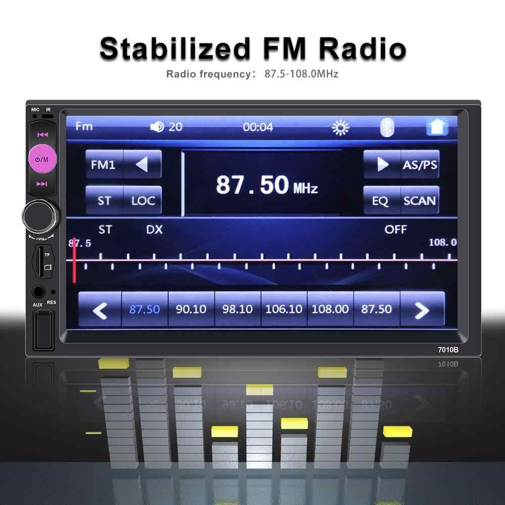Авторадио 2 din общие модели автомобилей 7 ''ЖК сенсорный экран Bluetooth автомобильный Радио плеер Автомобильный аудио камера заднего вида Зеркало Ссылка 7010b