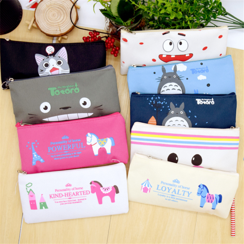 Vogvigo Cartoon Animal Makeup Bag  Zipper Cosmetic Organizer Bag Students School Cosmetic Pencil Bag  Coin Change Case Pouch New